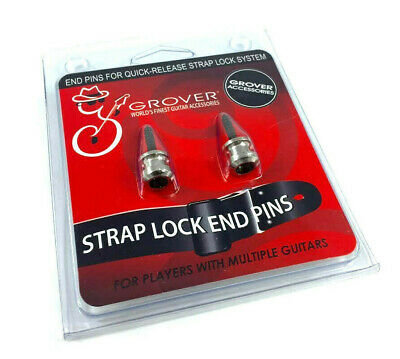 Grover Strap Lock Buttons - Nickel