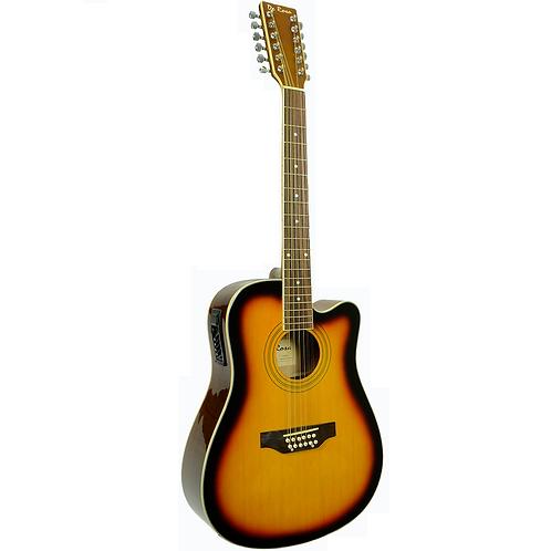 De Rosa 12 String Acoustic Electric Cutaway Guitar