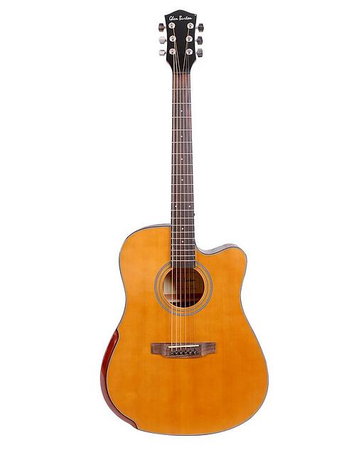 Glen Burton Deluxe Solid Top Cutaway Acoustic Dreadnought Guitar Beve