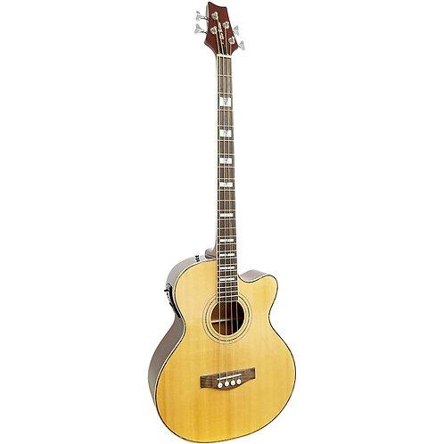 Glen Burton Jumbo Body Deluxe Acoustic Electric Bass