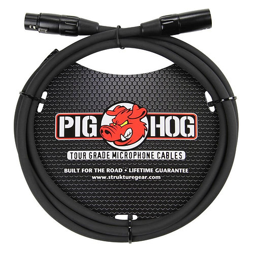 6 ft. TOUR GRADE MICROPHONE CABLE by Pighog (Lifetime Warranty)