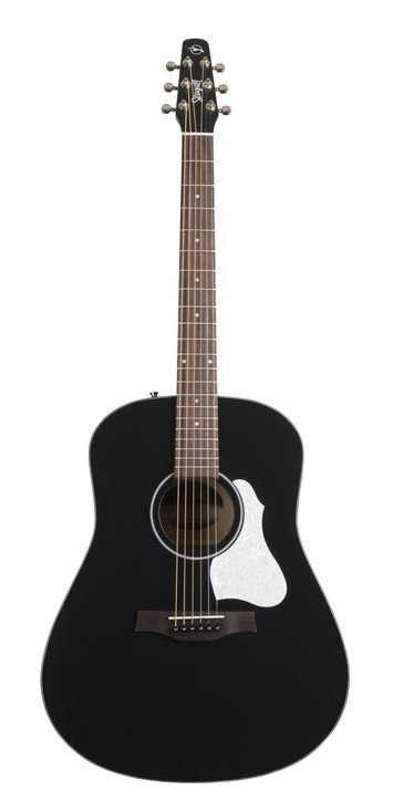 Seagull S6 Series 6-String RH Acoustic Electric Guitar-Classic Black