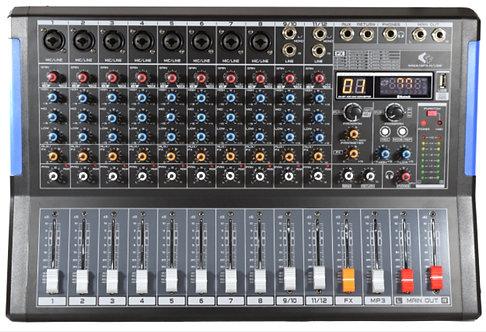 GRF MWA SERIES - MWA12FX-R-USB - 12 Channel Mixer