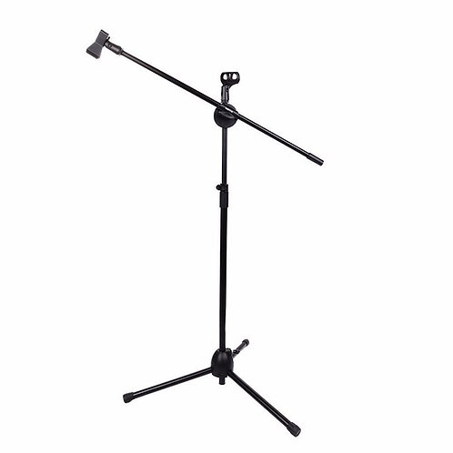 Tripod Boom Microphone Stand With 2 Clips
