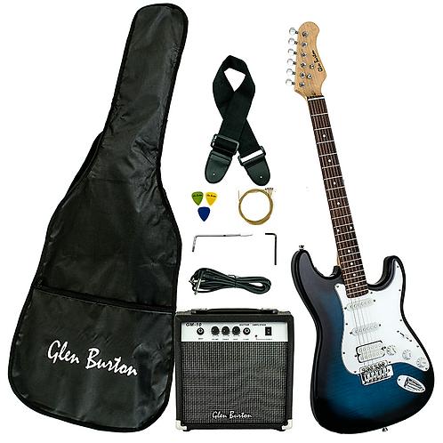 Glen Burton Efinity Strat Style Electric Guitar Pack