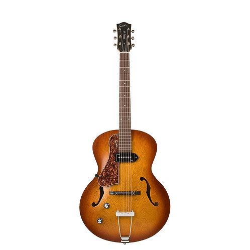 Godin 5th Avenue Kingpin P90 Archtop Hollowbody Guitar-Cognac Burst