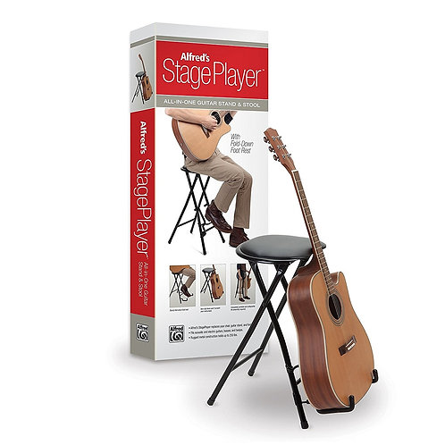 Alfred StagePlayer - Guitarist Stool & Stand with Footrest