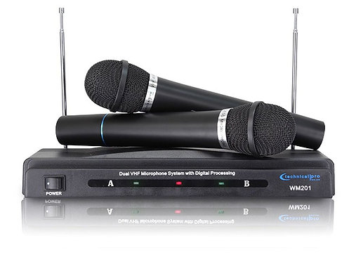 Technical Pro WM-201 Dual signal VHF Handheld Microphone System