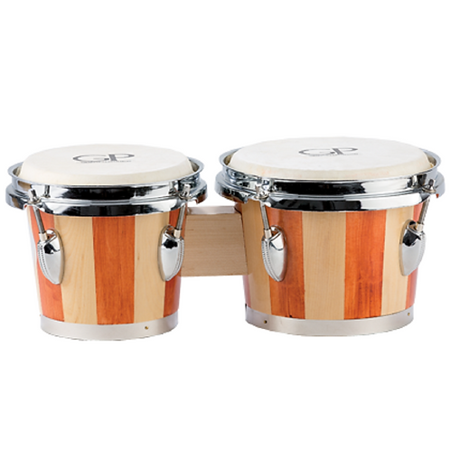 Granite Percussion 6'' & 7'' Bongo Set - Striped Finish