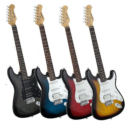 Glen Burton Series Stratocaster HSS Electric Guitar Transparent Finish