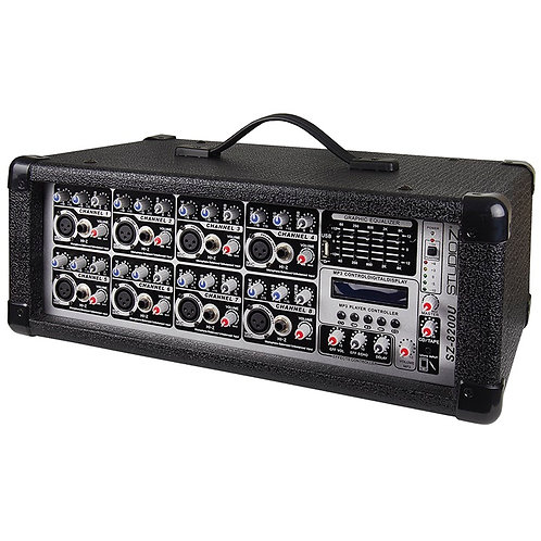 STUDIO Z 8 CHANNEL 800 WATT POWERED MIXER
