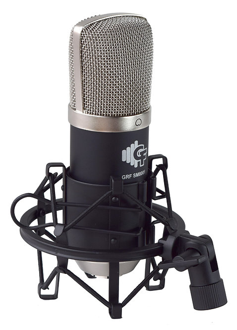 Studio Condenser Microphone Package with Shock Mount & carrying bag