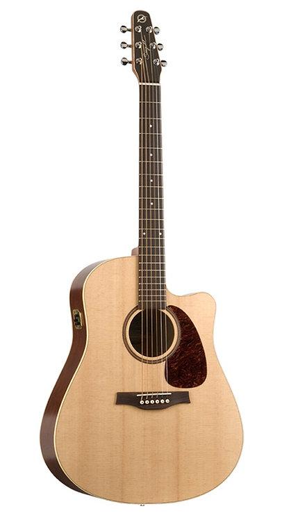 Seagull Coastline SLIM CW Spruce QIT Acoustic Electric Guitar with Gig Bag