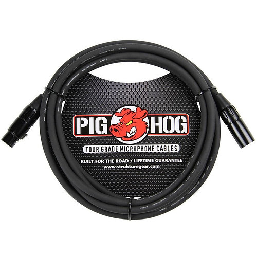 10 ft. TOUR GRADE MICROPHONE CABLE by Pighog (Lifetime Warranty)
