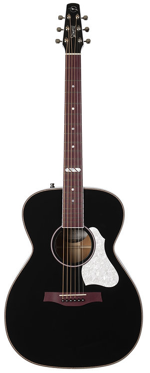 Seagull Artist Limited Tuxedo Black EQ 6 String RH Acoustic Electric Guitar Case
