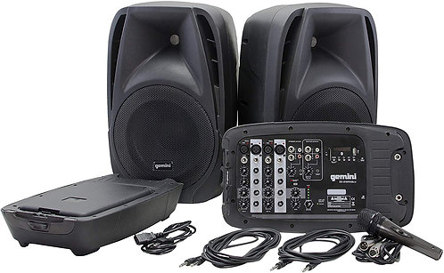 Gemini Bluetooth Portable PA System With Detachable Powered Mixer