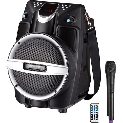 Technical Pro WASP550 Bluetooth Rechargable Speaker with Wireless Microphone