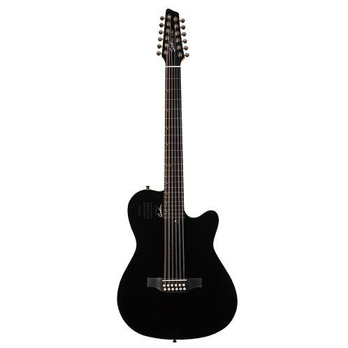 Godin 048588 A12 HG 12-String RH Acoustic Electric Guitar with Gigbag-Black