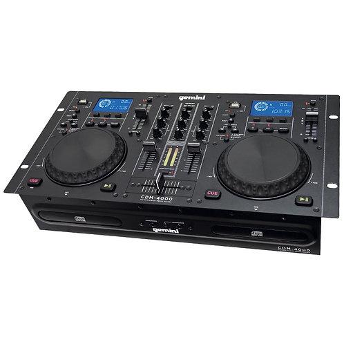 Gemini CDM-4000 Dual MP3/CD/USB Player & 2 Channel Mixer