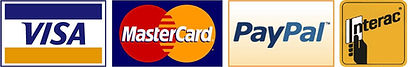 Payment Method's: Visa, Master Card, Pay Pal, Interac
