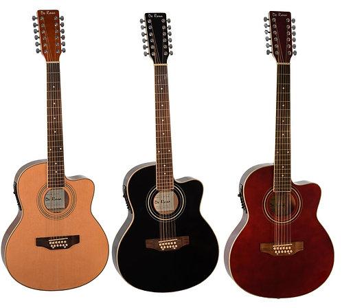 Glen Burton 12 String Cutaway Thin Line Acoustic Electric Guitar