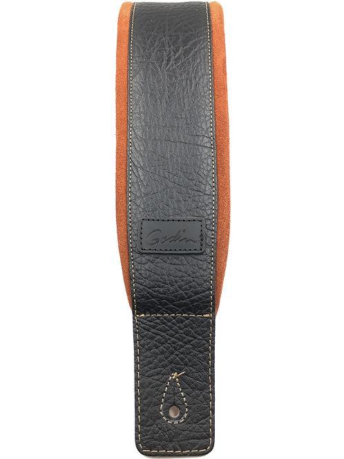 Godin Black Leather/Rust Suede Guitar Strap 026081