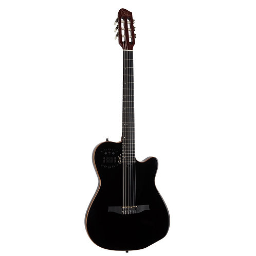 Godin 032181 ACS SLIM Nylon Black HG Classical Electric Acoustic Guitar