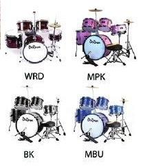 5 Piece Junior Drum Set Complete