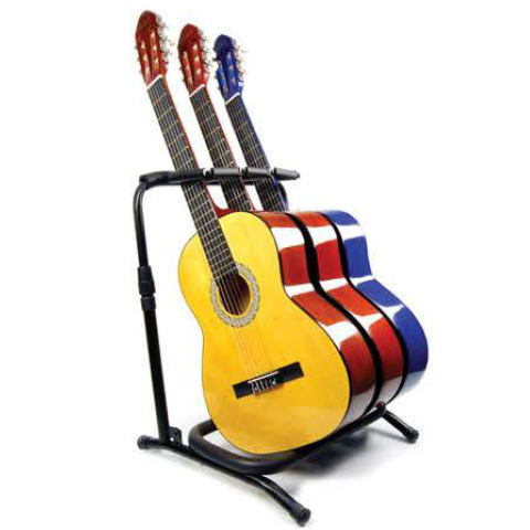 "TRIPLE GUITAR ""BICYCLE RACK STYLE"" STAND"