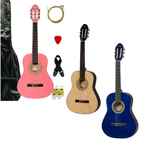 """De Rosa 36"""" Junior 3/4 Classical Guitar Outfit"""