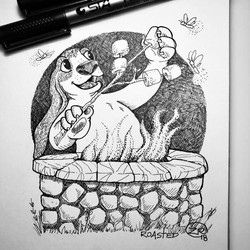 Inktober 2018 - ROASTED