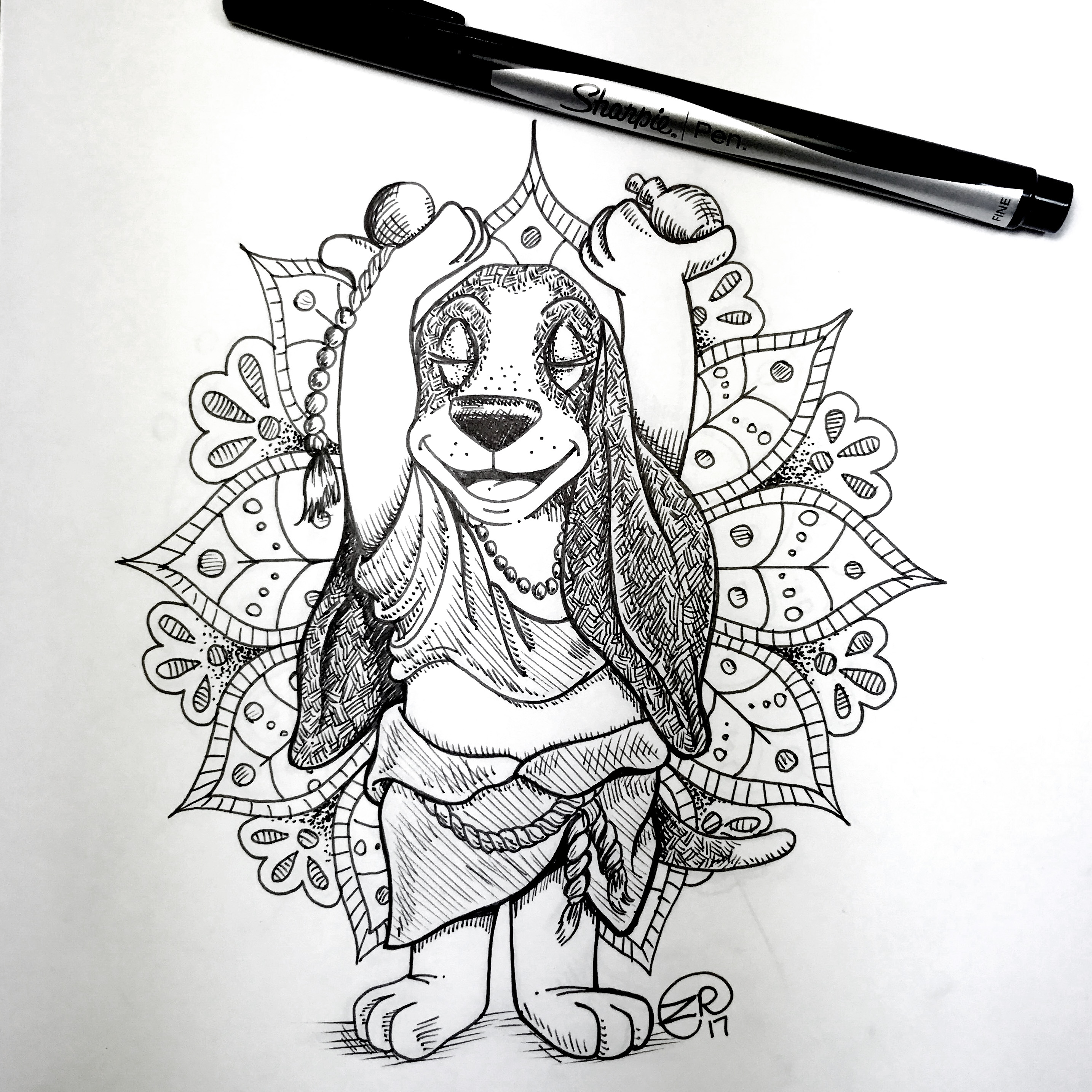 Inktober 2017 - BUDDHA