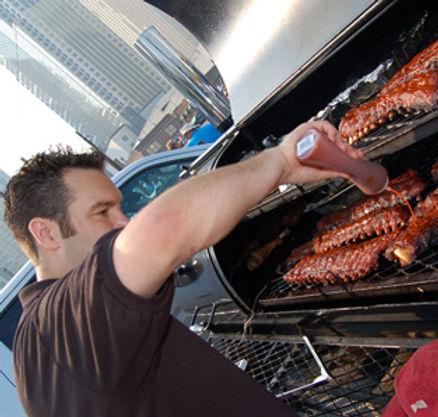Alex Ranucci BBQ ribs tailgate