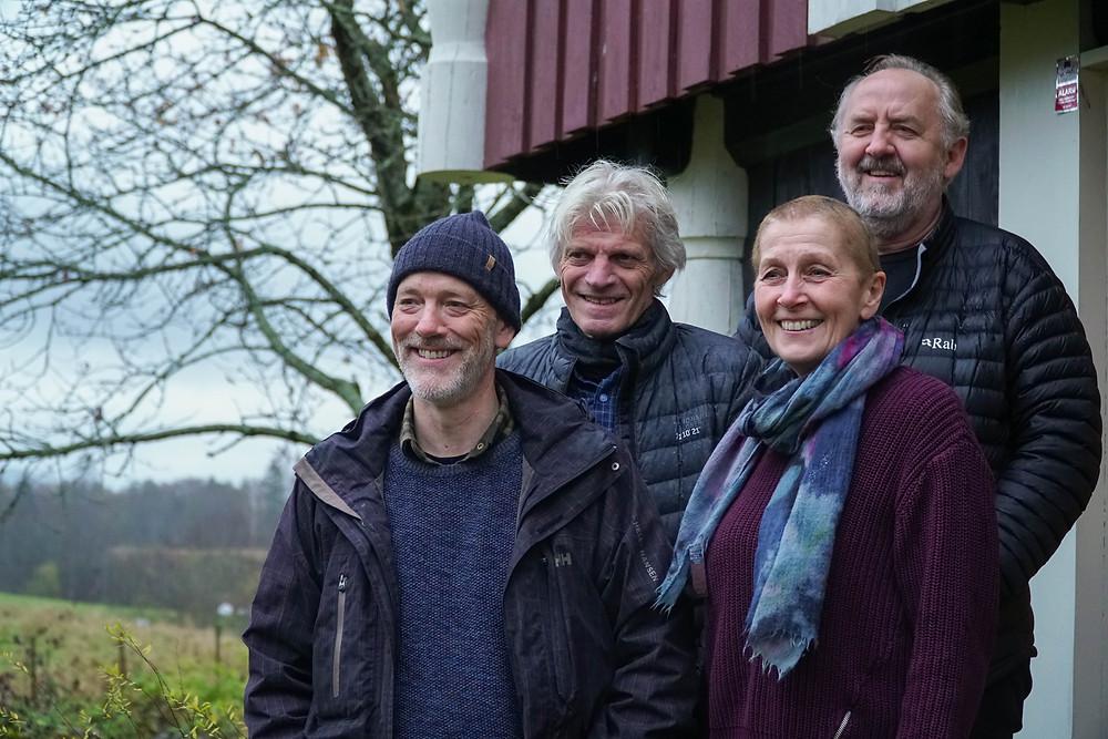 Her er SVEVE, f.v. Oddbjørn, Torgeir, Anne, Erling