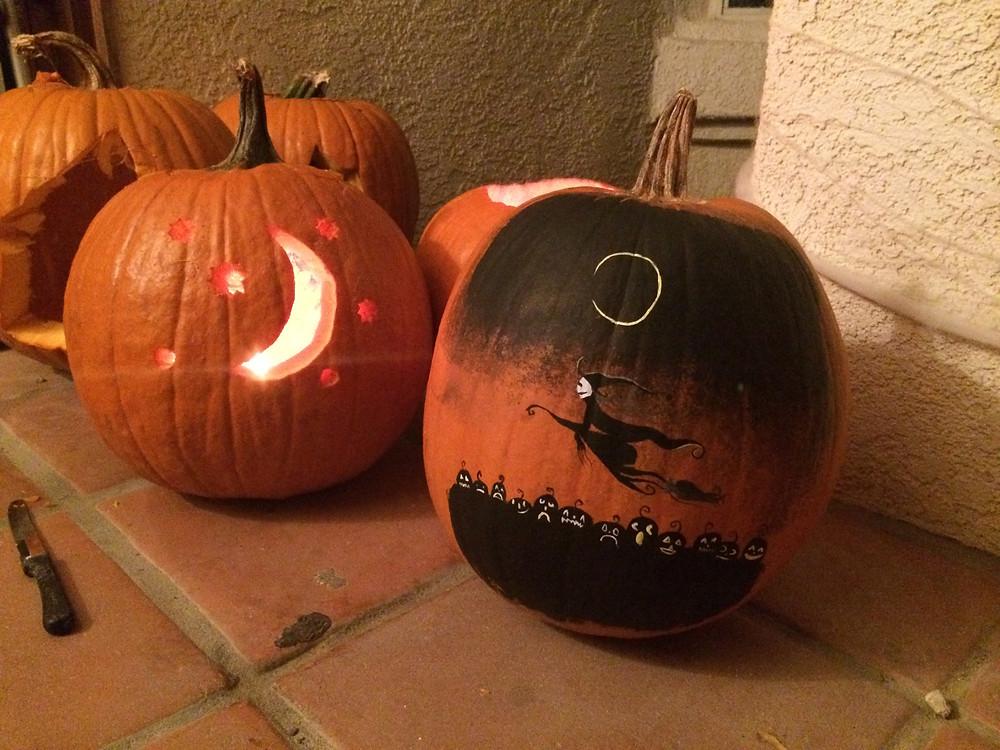 Lisa's finished pumpkin