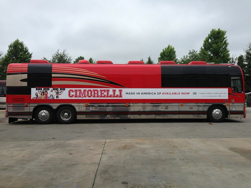 Our tour bus from our first US tour