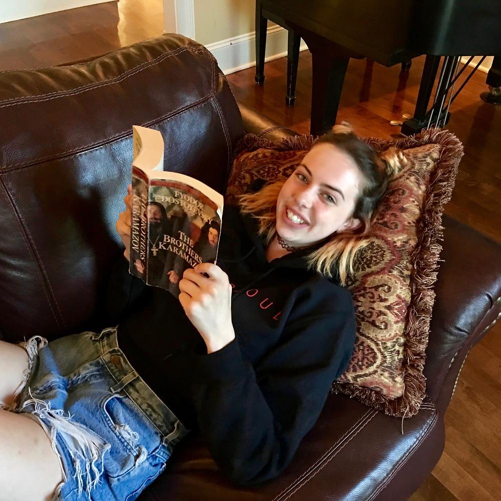 Dani reading