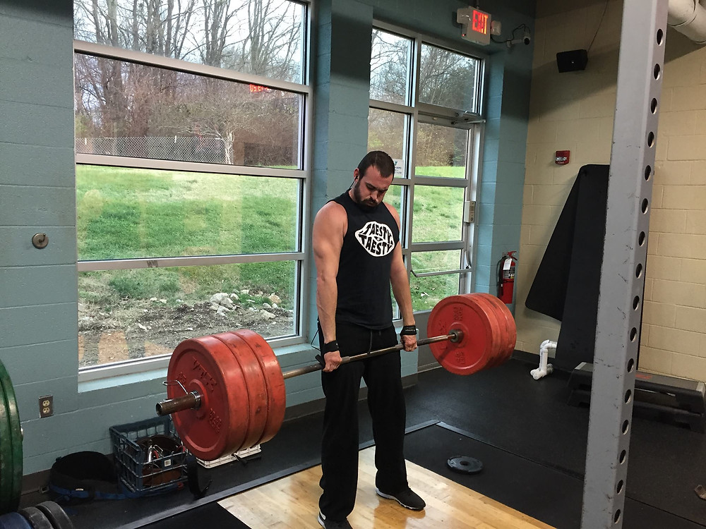 Michael deadlifting 315 lb