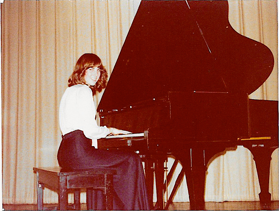 Lynne at piano