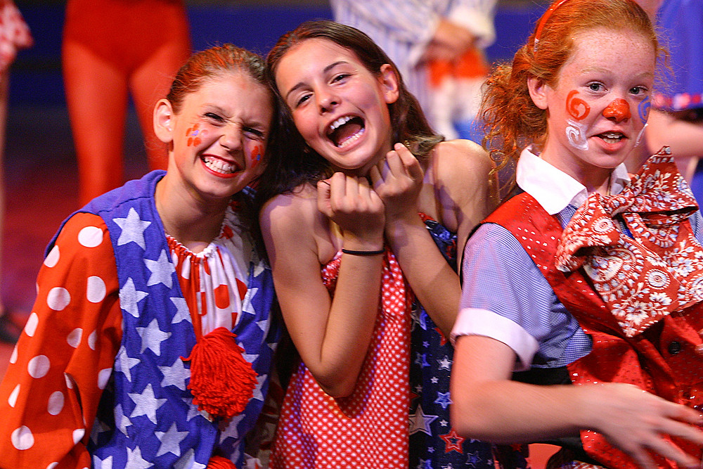 Lisa with her friends in musical theater