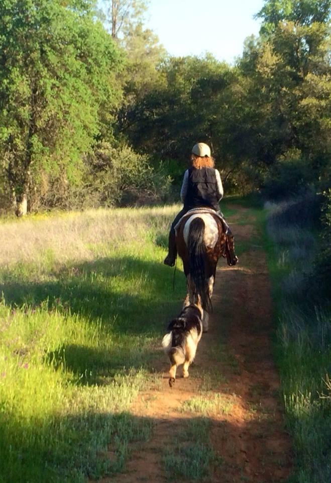 Cherie on horseback