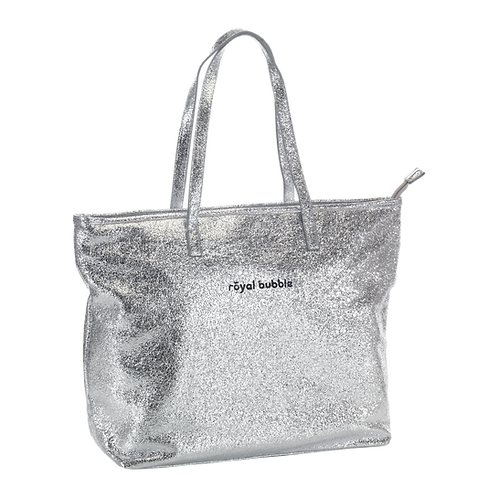 BORSA SHOPPER BEACH PARTY SILVER