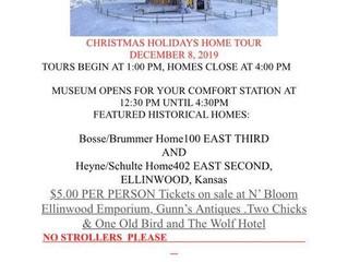 Ellinwood Community Historical Society and Musuem of Ellinwood presents 2019 Christmas Holidays Home
