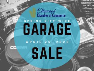 Ellinwood Spring City Wide Garage Sale; April 25, 2020 & 2nd Annual Spring Vendor Show Downtown