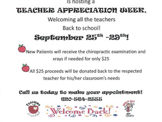 Sauer Chiropractic Teacher Appreciation Week