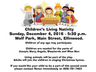 Children's Living Nativity at Christkindlmarket
