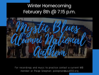 Mystic Blues Alumni National Anthem Feb. 8th @ 7:15 p.m.