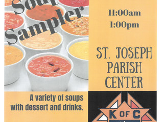K of C Scholarship Fund Soup Sampler