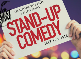 Historic Wolf Hotel presents Comedy Show July 17 & 18 at the 47th After Harvest Festival