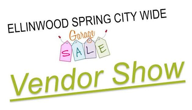 Ellinwood Spring City Wide Garage Sale April 27th, 2019 & Vendor